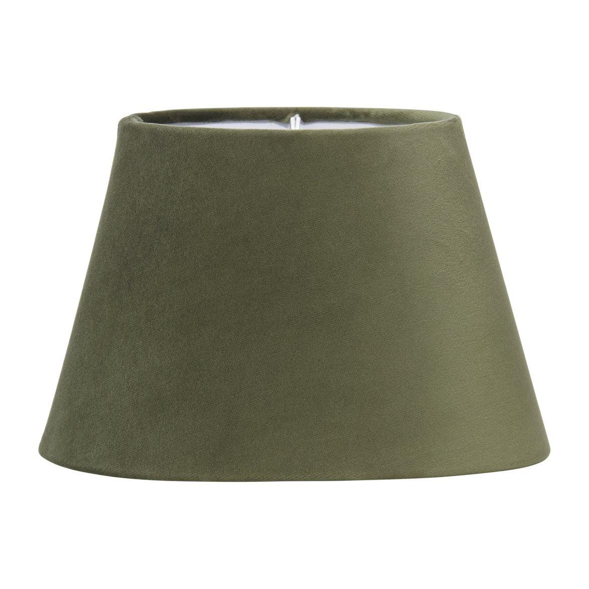 Oval sammet stor (grön) A Ljus