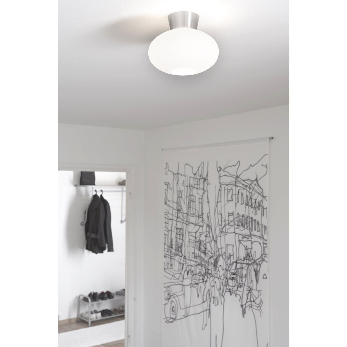 bullo plafond aluminium med opalglas a ljus. Black Bedroom Furniture Sets. Home Design Ideas